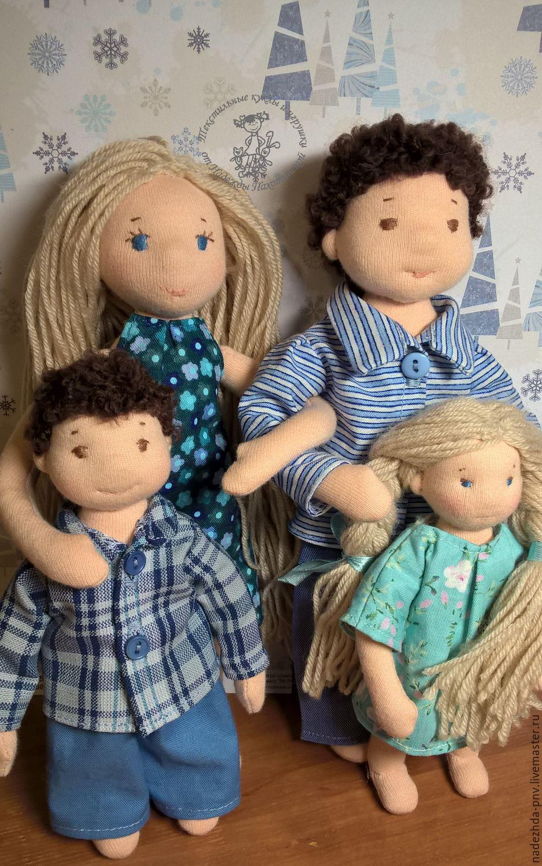 Кукольная семья.  Вальдорфские куколки малышки, Вальдорфские куклы и звери, Долгопрудный,  Фото №1