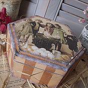 """Для дома и интерьера ручной работы. Ярмарка Мастеров - ручная работа """"А la campagne"""" шкатулка. Handmade."""