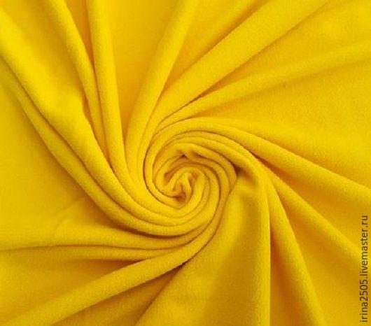 Шитье ручной работы. Ярмарка Мастеров - ручная работа. Купить Ткань Флис Жёлтый. Handmade. Желтый, флис для игрушек