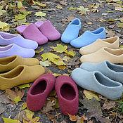 """Обувь ручной работы. Ярмарка Мастеров - ручная работа Тапочки """"Все цвета радуги"""". Handmade."""