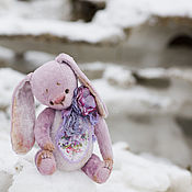 Куклы и игрушки ручной работы. Ярмарка Мастеров - ручная работа Цветочный чаровник зайка тедди. Handmade.