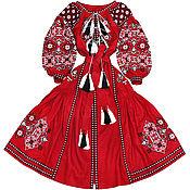 """Одежда ручной работы. Ярмарка Мастеров - ручная работа Длинное платье с клиньями """"Весна-Красна"""". Handmade."""