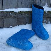 """Обувь ручной работы. Ярмарка Мастеров - ручная работа Валенки """"Бирюзовая зима"""". Handmade."""