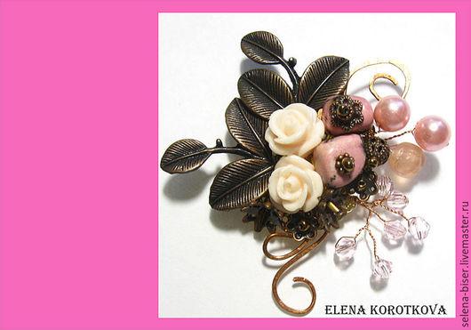брошь розовая  брошь летняя  брошь с родонитом  брошь с цветами  брошки  брошка  розовая брошка  родонитовая брошь  розовое украшение   розовая брошь     брошь авторская  брошь розовая подарок