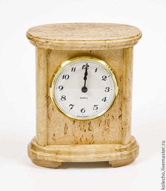 Часы для дома ручной работы. Ярмарка Мастеров - ручная работа. Купить Часы настольные из карельской березы. Handmade. Бежевый, часы