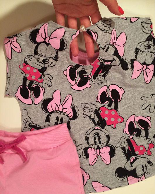 """Одежда для девочек, ручной работы. Ярмарка Мастеров - ручная работа. Купить Комплект """"Минни Маус"""". Handmade. Трикотажный костюм"""