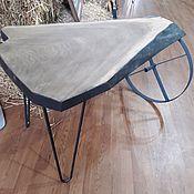 Для дома и интерьера ручной работы. Ярмарка Мастеров - ручная работа Стол дубовый с живым краем. Handmade.