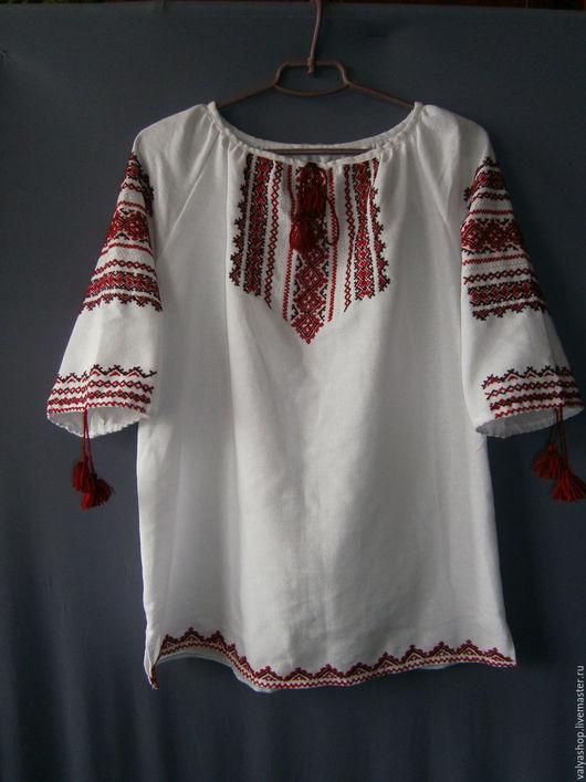 Этническая одежда ручной работы. Ярмарка Мастеров - ручная работа. Купить Блуза-вышиванка белая с домотканого полотна готовая и на заказ  Яросла. Handmade.
