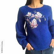 Одежда handmade. Livemaster - original item Women`s jumper Magnolia, wool watercolor, Merino wool and mohair. Handmade.