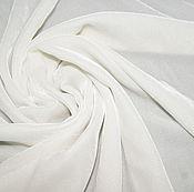 Ткани ручной работы. Ярмарка Мастеров - ручная работа Бархат шелковый отбеленный /молочный /неокрашенный. Handmade.