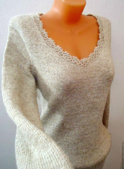 Платья ручной работы. Ярмарка Мастеров - ручная работа. Купить Платье из альпаки 44-48 размера. Handmade. Однотонный