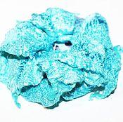 Аксессуары ручной работы. Ярмарка Мастеров - ручная работа Брошь-заколка валяная цветок Нунофелтинг голубая бирюзовая. Handmade.