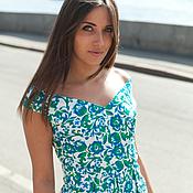 Одежда ручной работы. Ярмарка Мастеров - ручная работа -40%.Платье в цветочек короткое из хлопка от AMODAY. Handmade.