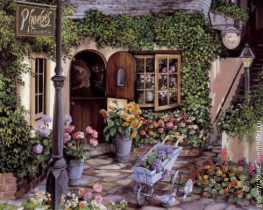 Другие виды рукоделия ручной работы. Ярмарка Мастеров - ручная работа. Купить Картина по номерам Романтичный сад у дома. Handmade.