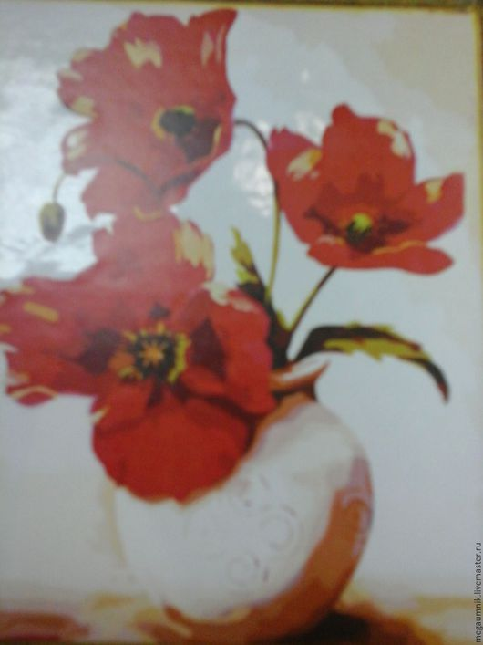 Другие виды рукоделия ручной работы. Ярмарка Мастеров - ручная работа. Купить Картина по номерам. Handmade. Комбинированный, картина с цветами