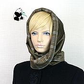 Аксессуары handmade. Livemaster - original item Designer double-sided scarf. Color dark hakki.. Handmade.