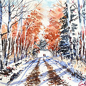 Картины и панно handmade. Livemaster - original item Painting autumn
