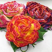 Украшения ручной работы. Ярмарка Мастеров - ручная работа Брошка-цветок из фоамирана. Handmade.