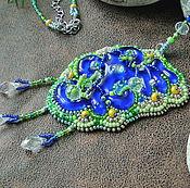 Украшения handmade. Livemaster - original item pendant, glass beads, treasure of the amazon, fusing, bead embroidery. Handmade.