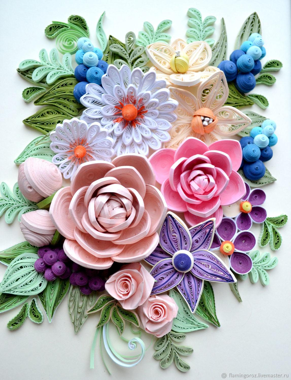 качестве квиллинг картина цветы если искусственный