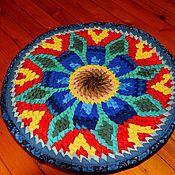 Для дома и интерьера ручной работы. Ярмарка Мастеров - ручная работа коврики на стулья из лоскутков в стиле Ля почиха. Handmade.