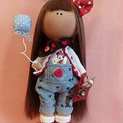 Куклы и игрушки ручной работы. Ярмарка Мастеров - ручная работа Интерьерная текстильная кукла большеножка Ника. Handmade.