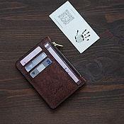 Сумки и аксессуары handmade. Livemaster - original item Pueblo Leather Zipper Wallet Brown. Handmade.