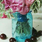 Для дома и интерьера ручной работы. Ярмарка Мастеров - ручная работа Легендарная банка Mason ball jar лимитированного голубого цвета. Handmade.