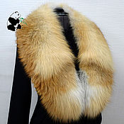 Аксессуары handmade. Livemaster - original item Chic detachable fur collar gorget fur red Fox. Art.1/184. Handmade.