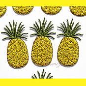 Материалы для творчества handmade. Livemaster - original item embroidery applique pineapple stripe patch for clothing and scrapbook. Handmade.