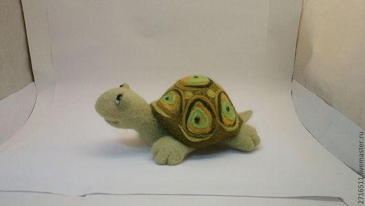 Игрушки животные, ручной работы. Ярмарка Мастеров - ручная работа. Купить черепаха. Handmade. Оливковый, игрушка ручной работы