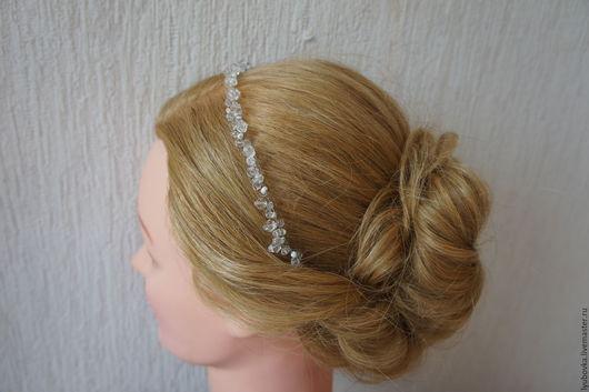 Свадебные украшения ручной работы. Ярмарка Мастеров - ручная работа. Купить Свадебное украшение для прически #72. Handmade. Ободок для невесты