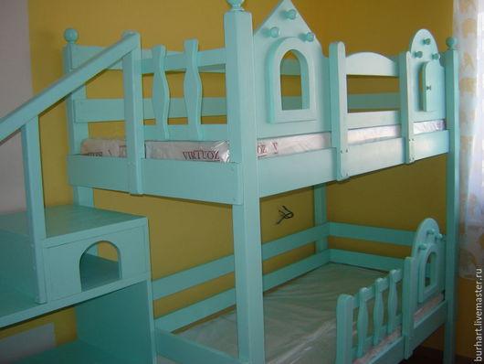 Детская ручной работы. Ярмарка Мастеров - ручная работа. Купить детская кровать. Handmade. Мятный, мебель для детской