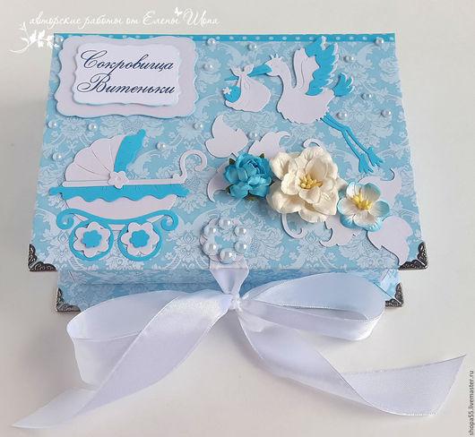 """Подарки для новорожденных, ручной работы. Ярмарка Мастеров - ручная работа. Купить Мамины сокровища """"Яркий голубой""""  мамины сокровища для мальчика. Handmade."""