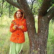 """Одежда ручной работы. Ярмарка Мастеров - ручная работа Куртка женская льняная """"Осеннее настроение"""". Handmade."""
