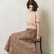 Одежда handmade. Livemaster - original item Felted skirt