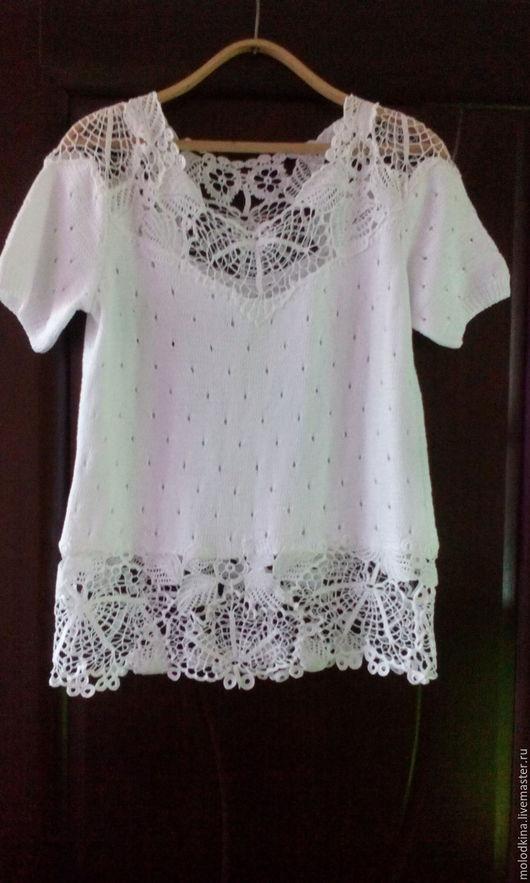 """Блузки ручной работы. Ярмарка Мастеров - ручная работа. Купить летняя вязаная блуза """"Нежность"""". Handmade. Цветочный, летняя, блузка"""