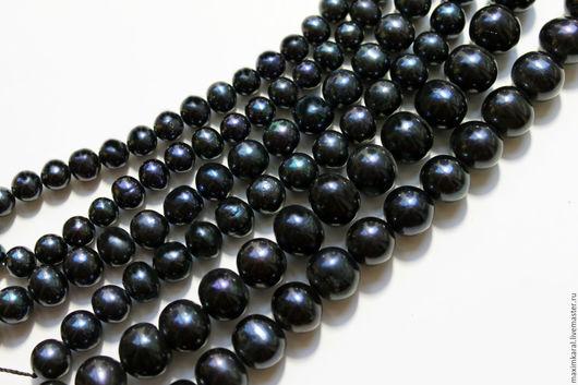 Для украшений ручной работы. Ярмарка Мастеров - ручная работа. Купить Черный жемчуг разные размеры 6-7, 7-8, 10-11 мм... Handmade.