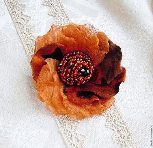 цветочная брошь, брошь из ткани, шифоновая брошь, украшение на голову, ободок с цветами, венок с цветами,цветы в прическу,цветы на платье,свадебный аксессуар,цветы в мягкой технике, floral brooch