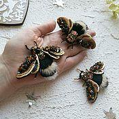 Украшения handmade. Livemaster - original item Brooch Bee with natural fur. Handmade.