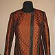 Верхняя одежда ручной работы. Ярмарка Мастеров - ручная работа. Купить Куртка стеганая рыжая. Handmade. Рыжий, куртка стеганая