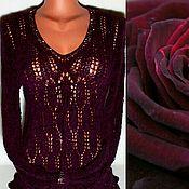 """Одежда ручной работы. Ярмарка Мастеров - ручная работа Пуловер """"Вишневая бархатная роза"""". Handmade."""