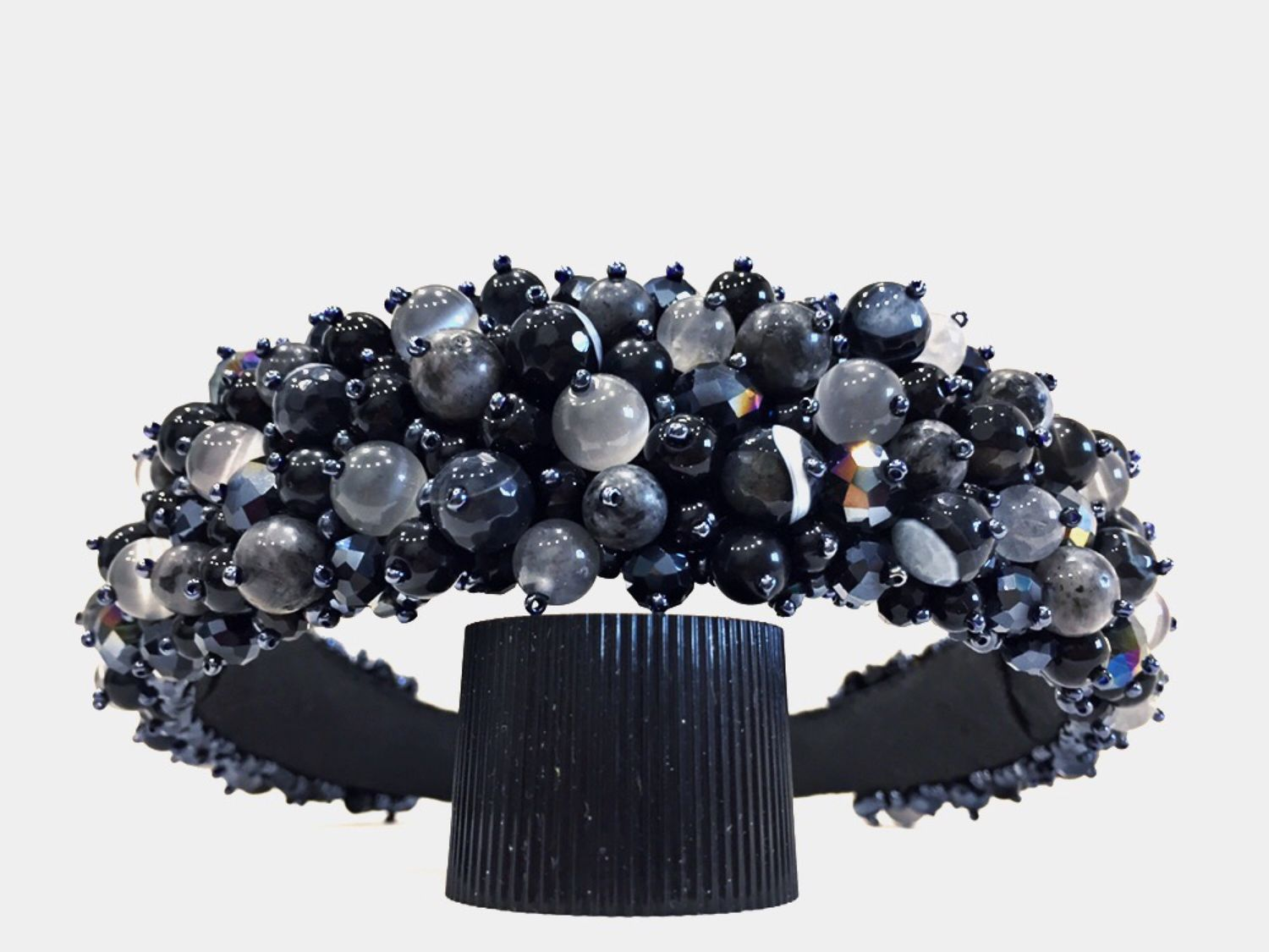 Rim of beads and stones (Labrador, agate, cat's eye), Headband, Moscow,  Фото №1