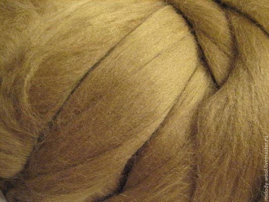 Валяние ручной работы. Ярмарка Мастеров - ручная работа. Купить Бленд меринос 18 мк с шелком тусса(70/30)Цвет Олива(Olive). Handmade.