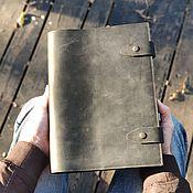 Канцелярские товары handmade. Livemaster - original item A4 notebook album in leather cover with pockets. Handmade.