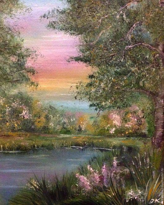 Пейзаж ручной работы. Ярмарка Мастеров - ручная работа. Купить Весна в лесу. Handmade. Комбинированный, картина для интерьера, весна, лес