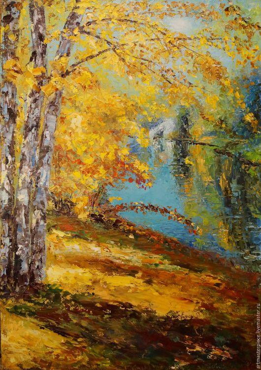 Пейзаж ручной работы. Ярмарка Мастеров - ручная работа. Купить Картина. Осень. Холст, масло, 35х45 см.. Handmade. Комбинированный