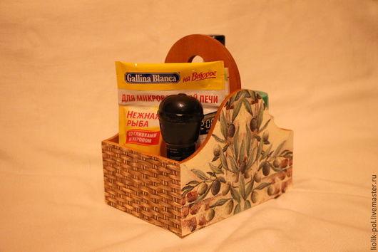 """Корзины, коробы ручной работы. Ярмарка Мастеров - ручная работа. Купить Короб для специй """"Олива"""". Handmade. Хаки, короб для кухни"""