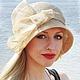Соломенная шляпка клош в стиле 20х годов. Натуральная соломка в комплекте с отделкой из пальмовой соломкой синамей натурального цвета. Шляпка в единственном экземпляре!