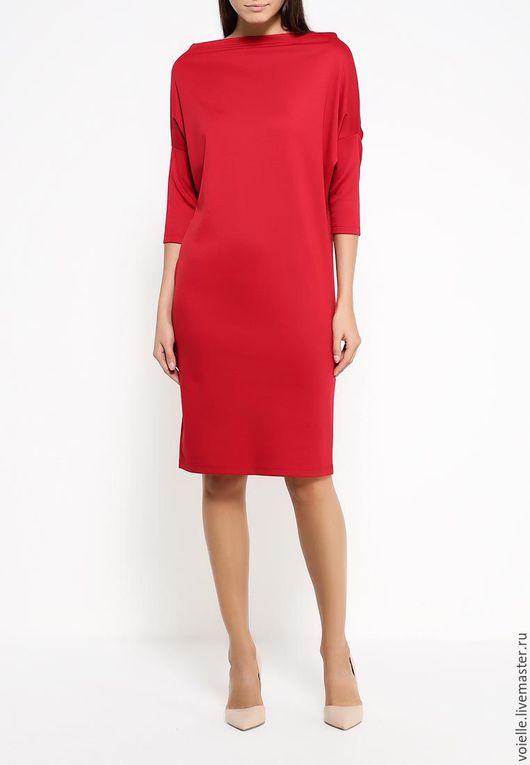 Платье трансформер `Ромб`, платье женское, платье Must Have платье из джерси вискоза хлопок, платье из вискозы платье красное